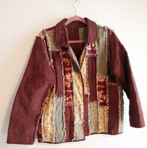 Vintage Boho Patchwork Jacket  M- L